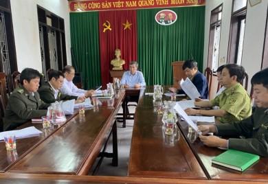 Lãnh đạo Sở Nông nghiệp và PTNT làm việc với Cơ quan Thường trực Ban Chỉ đạo huyện Nam Đông về tình hình thực hiện Chỉ thị số 65/2015/CT-UBND