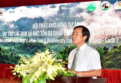 """Hội thảo Khởi động Dự án """"Dự trữ carbon và Bảo tồn đa dạng sinh học rừng"""" - CarBi giai đoạn 2 tại tỉnh Thừa Thiên-Huế"""